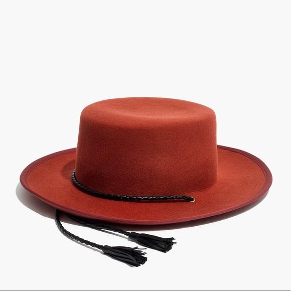 Madewell Accessories - Madewell x Biltmore Felt Stampede-Strap Hat Orange 84e905e733a3